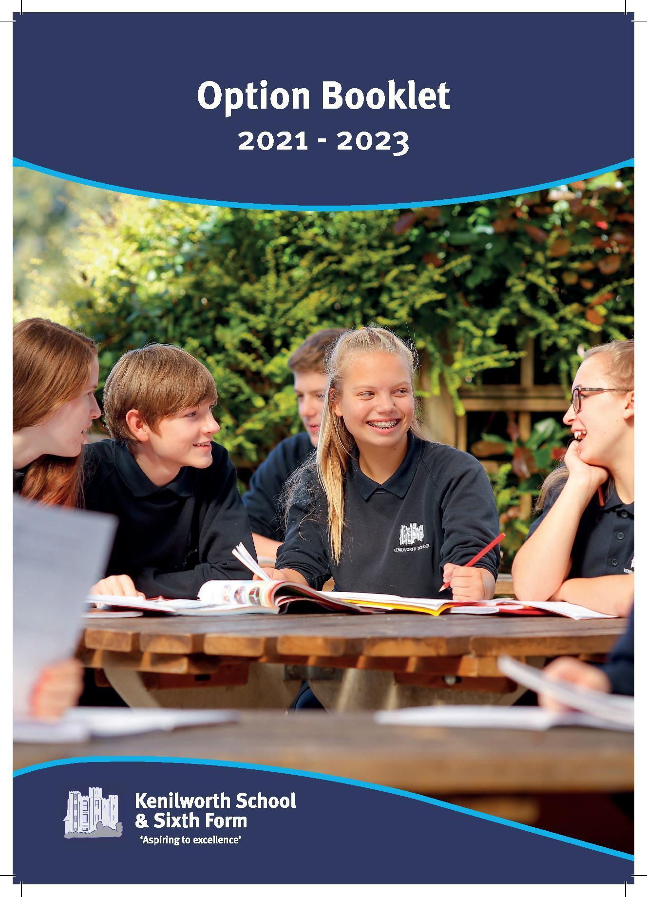 Kenilworth option booklet 2020 2022