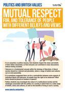 British values mutual respect